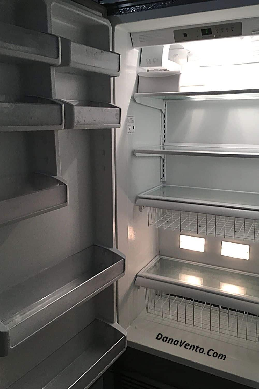 summer travel stories empty Fridge in a vacation rental