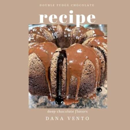 Double Chocolate Brownie Fudge Cake with ganache dripping