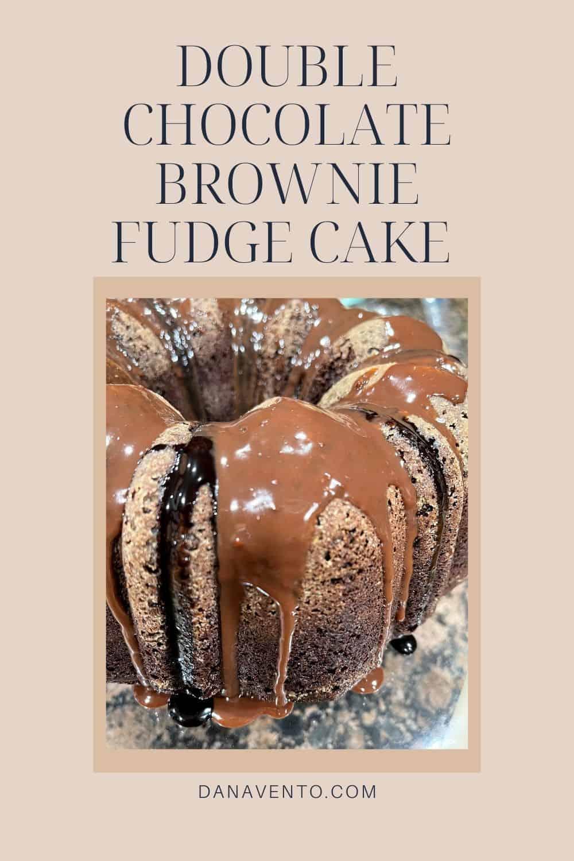 Double chocolate Brownie Fudge cake framed