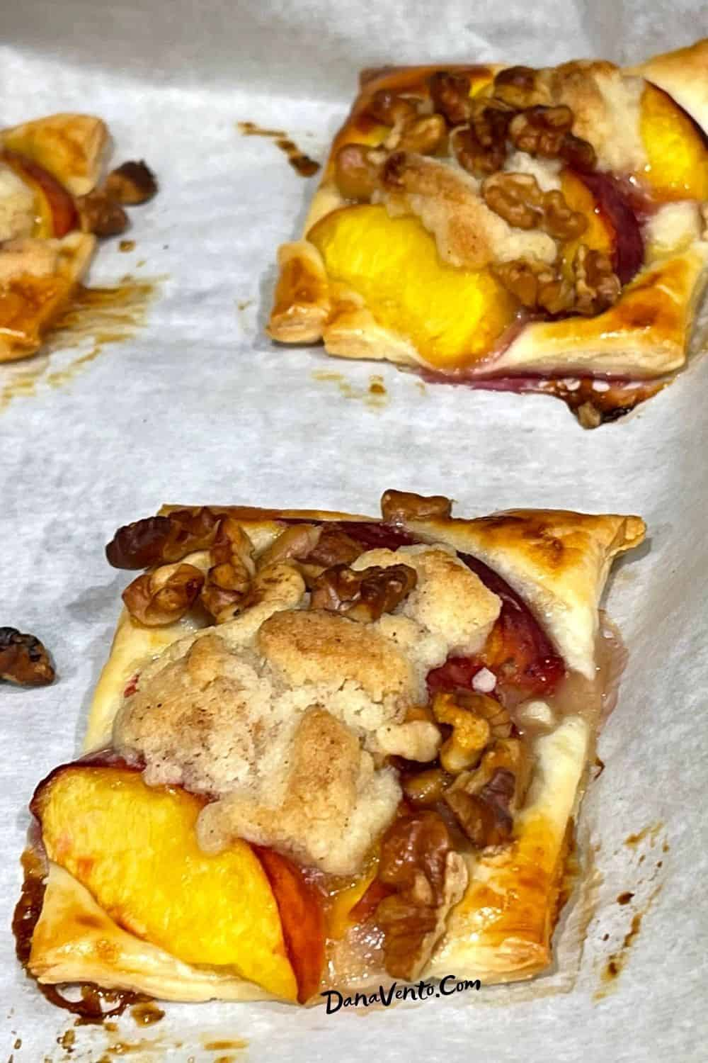 Dutch Crumb Peach Pastry Bites Baked