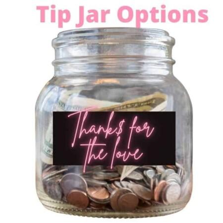 Tip jar ideas for written tip attention