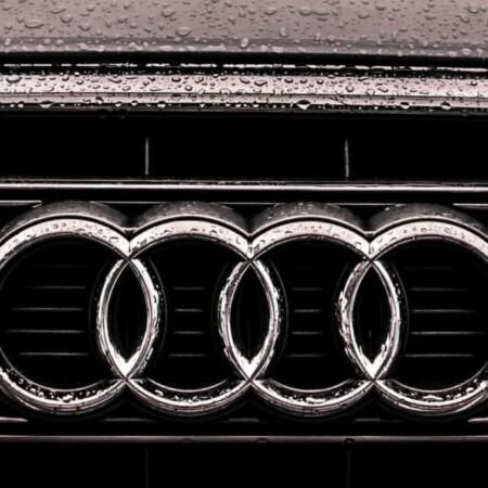 cropped Audi Forced Reboot Emblem on grille