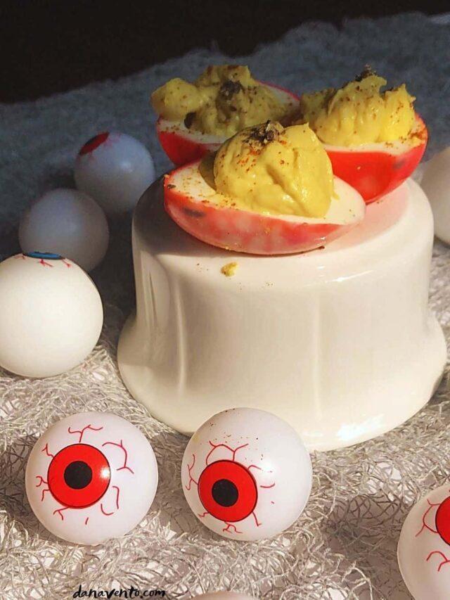 Bloodshot Eyeball Deviled Eggs