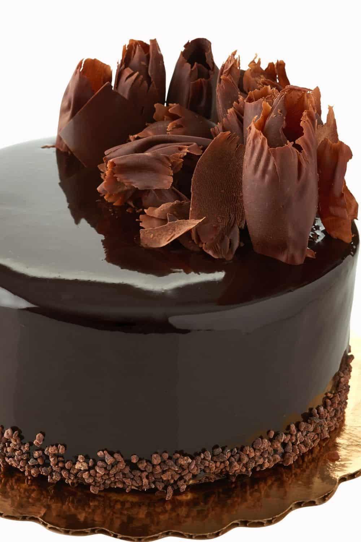 rich and versatile chocolate ganache atop cake