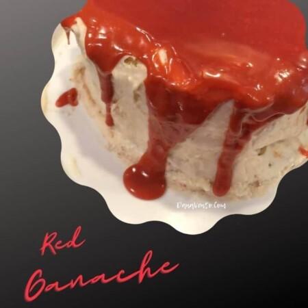how to make red ganache red ganache on cake