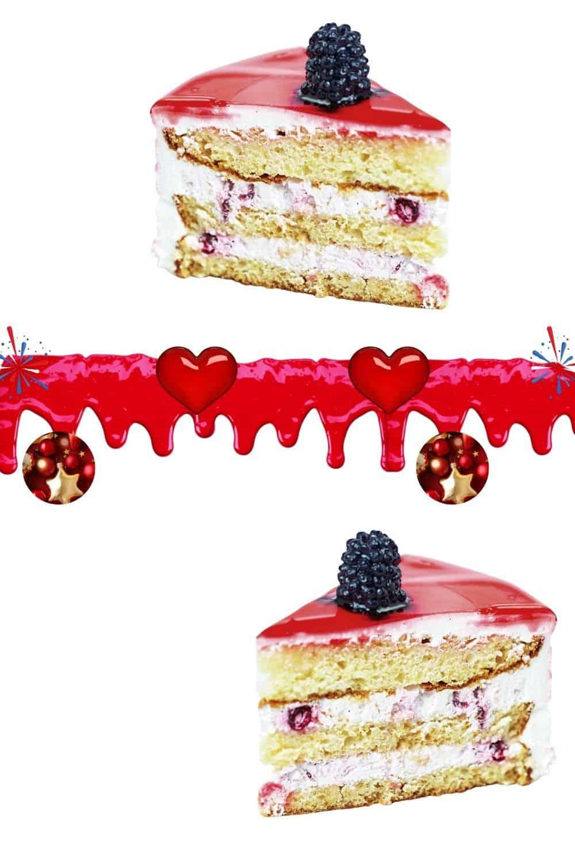 versatile red ganache on layer cake
