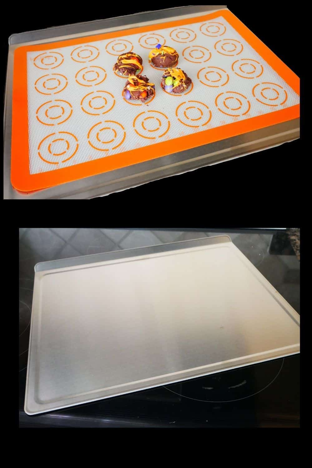 360 Bakeware with cookie on it and silicone cover