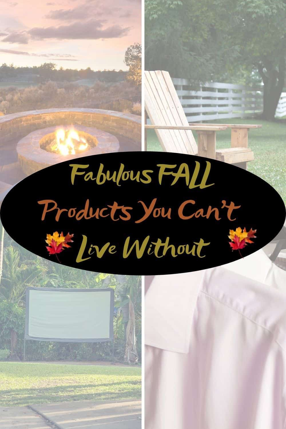 Fabulous FALL Products You Cant Live Without outdoor scenes