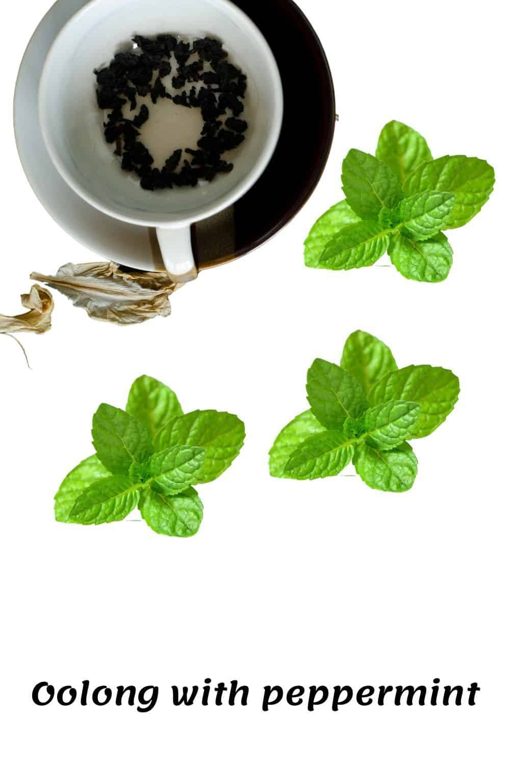 Oolong tea with peppermint