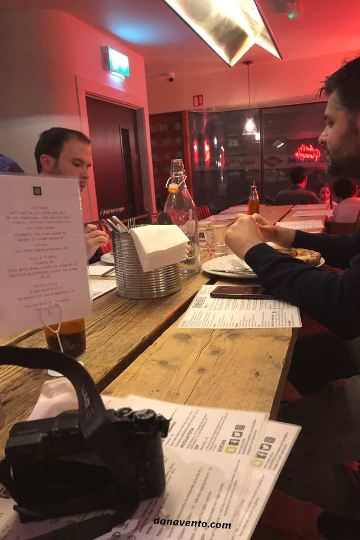 Seating at Sano Temple Bar Area authentic Italian Pizza