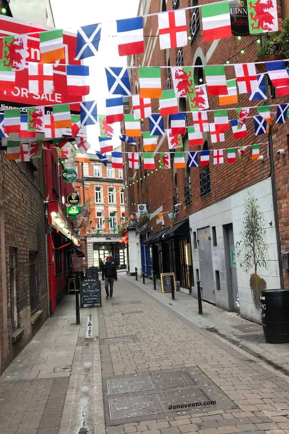 Temple Bar Area of Dublin In side streets
