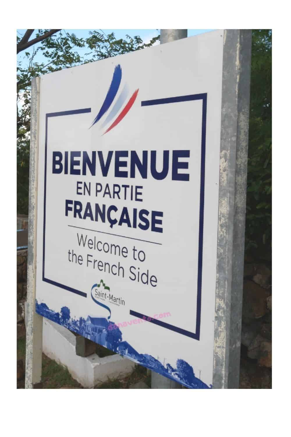 The French Side Sign in SXM