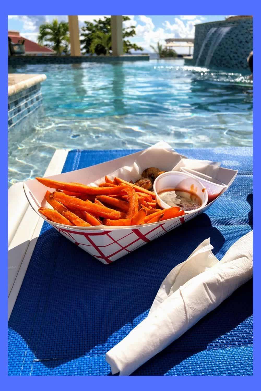 food poolside St Maarten adventures