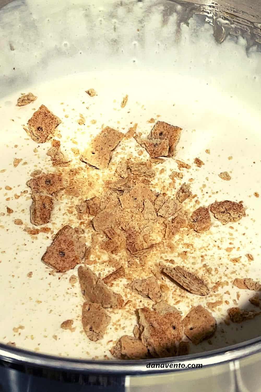 graham cracker pieces in apple pie ice cream