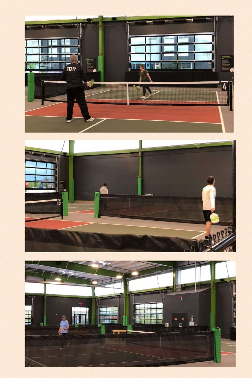 pickleball courts where you will use a beginner pickleball paddle