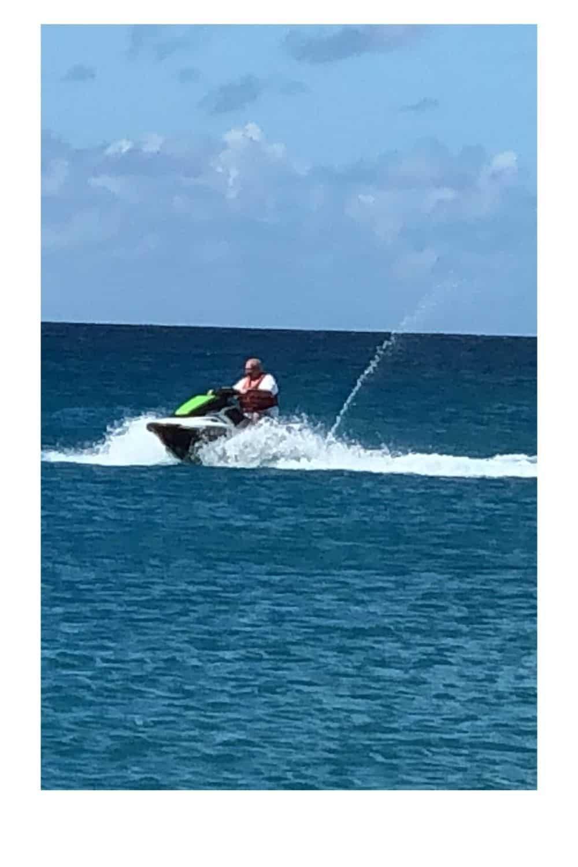 Island of Saint Martin adventures; jet ski