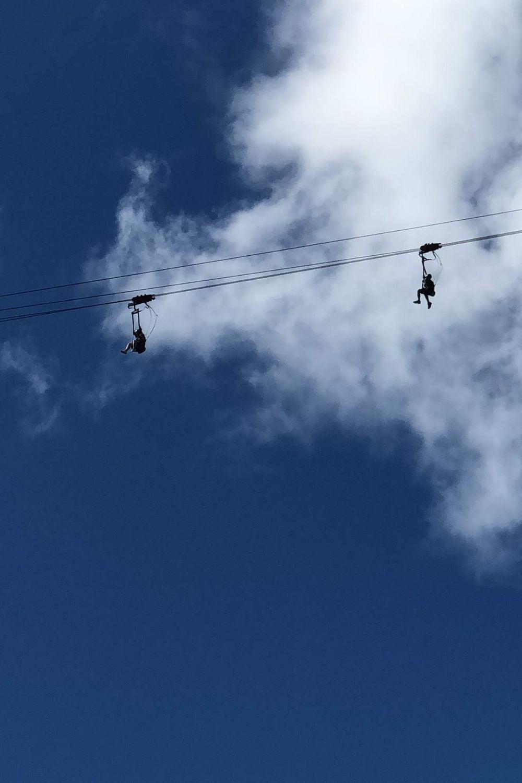 SXM- Rainforest Adventures above in the Flying Dutchman