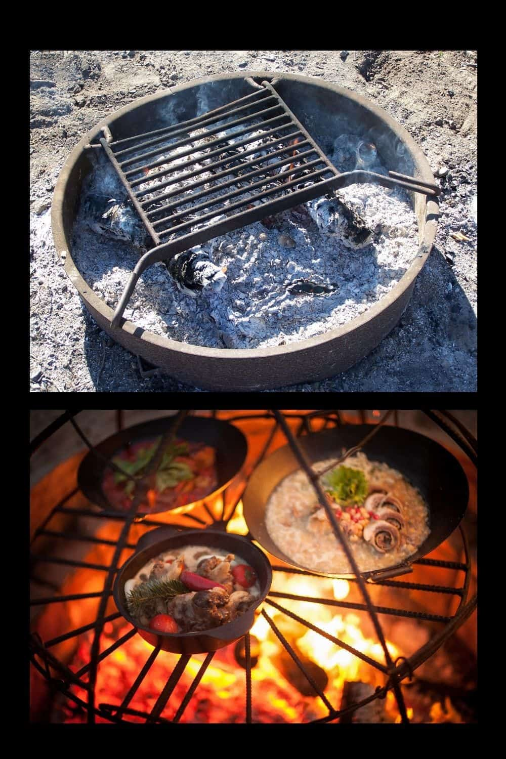 useful accessories for your fire pit are grates for cooking