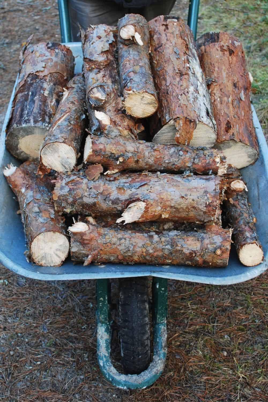 wheelbarrow for wood