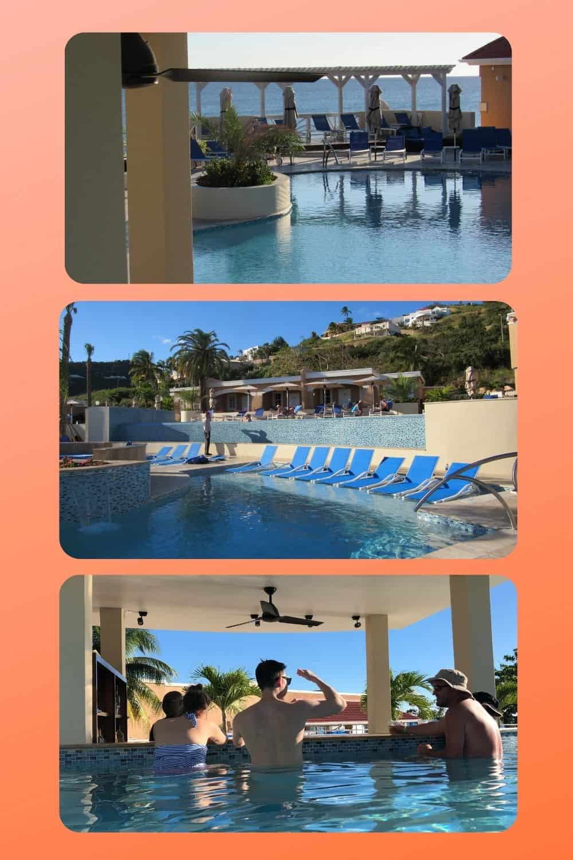 poolside with swimup bar